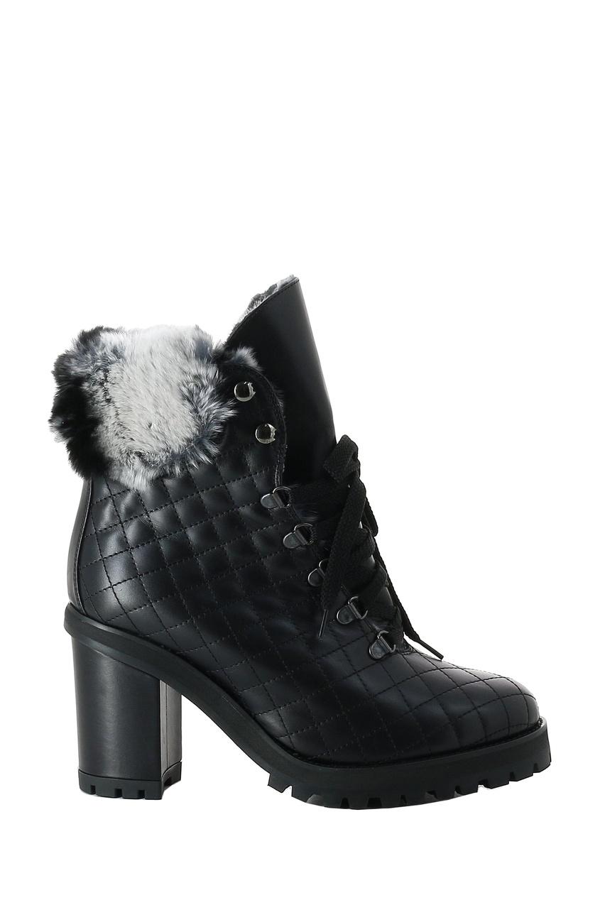Черные стеганые ботинки LERRE