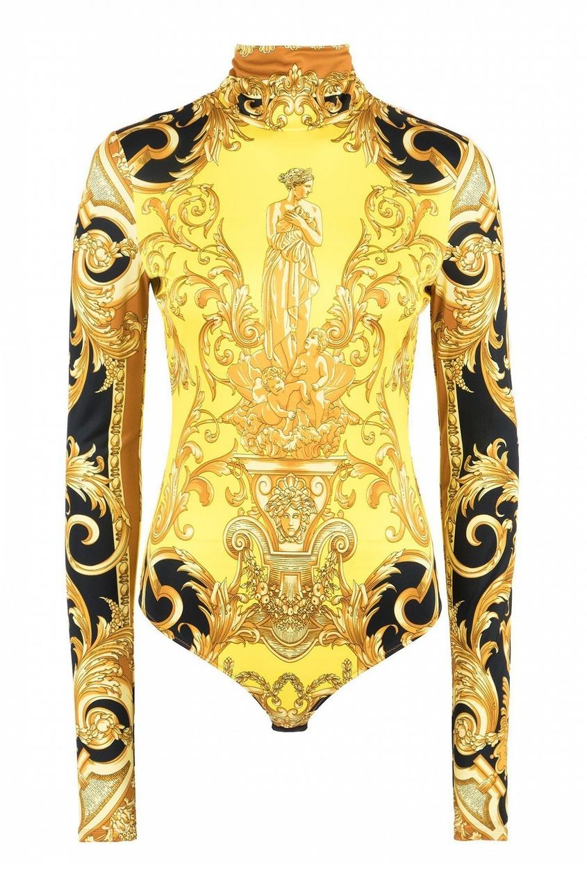 женские боди versace, желтые