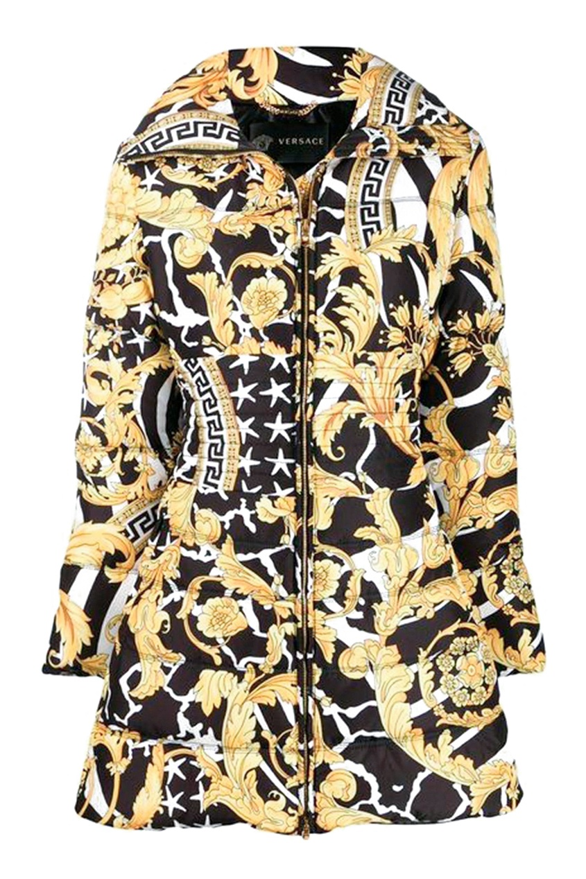 женская куртка удлиненные versace, желтая