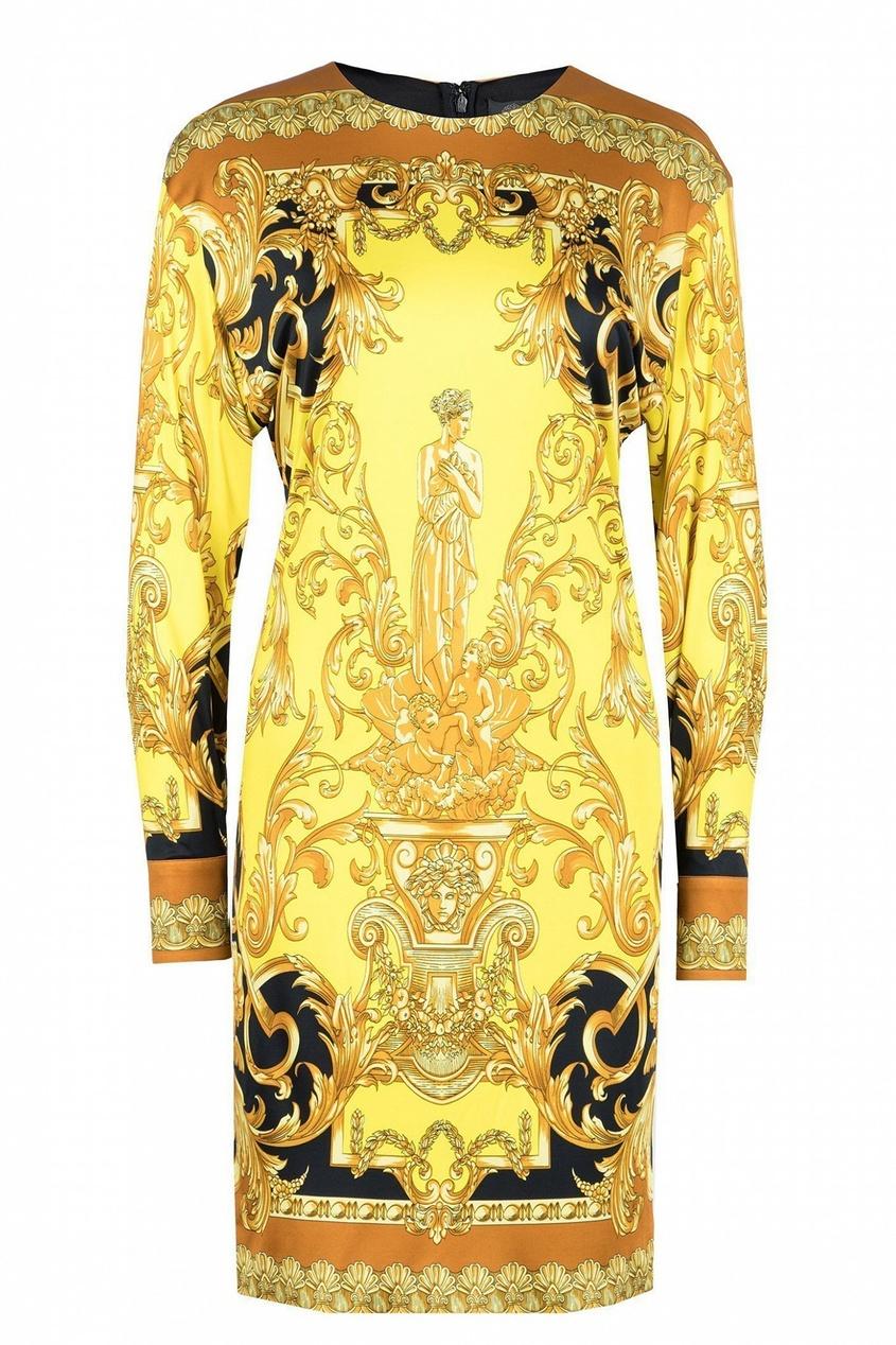 женское платье versace, желтое