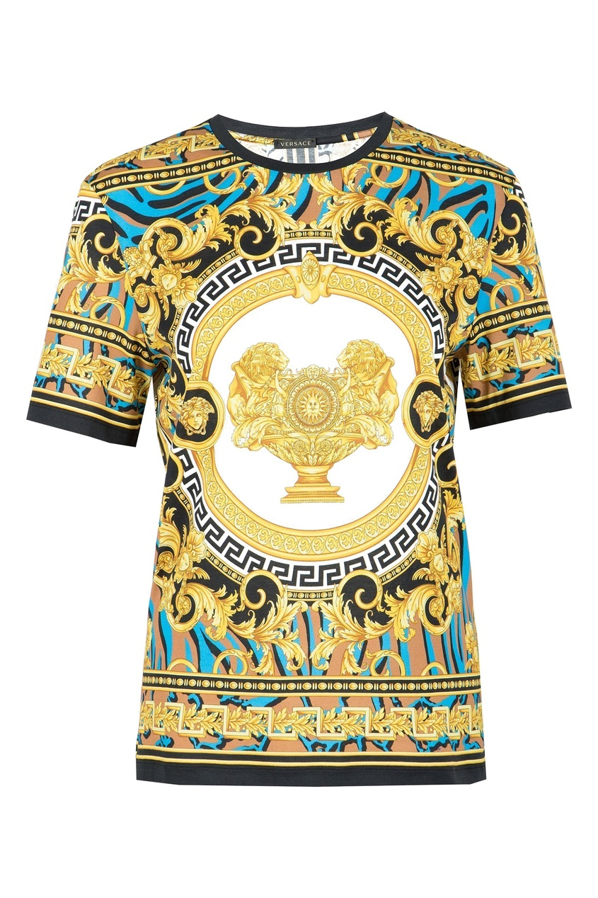 женская футболка с принтом versace