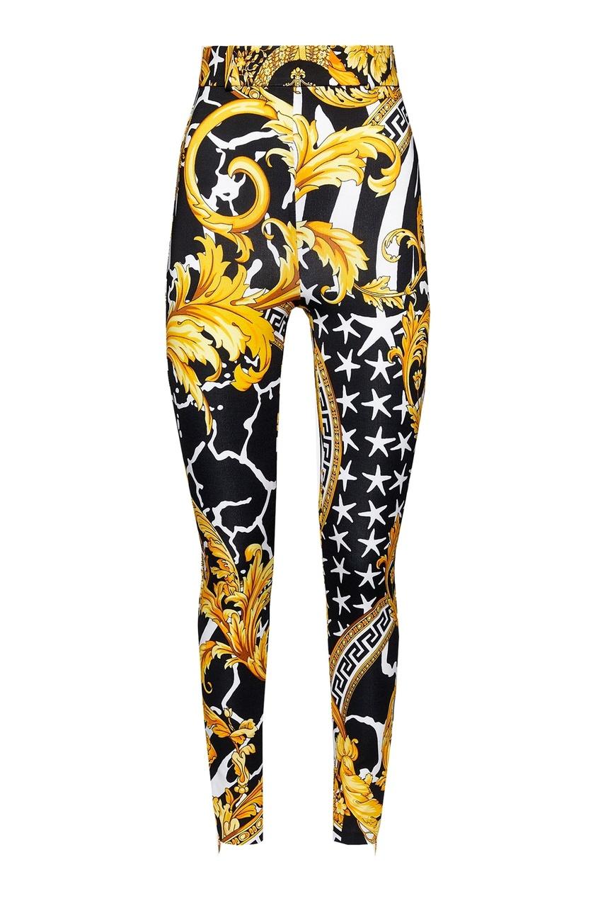 женские брюки скинни versace