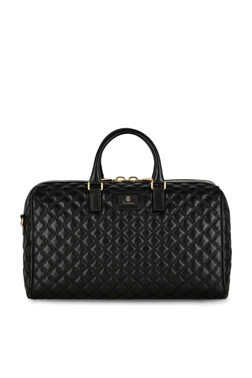 мужская сумка стеганные billionaire, черная