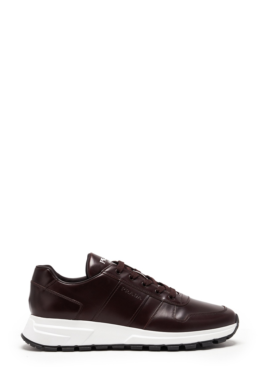 мужские кроссовки prada, бордовые