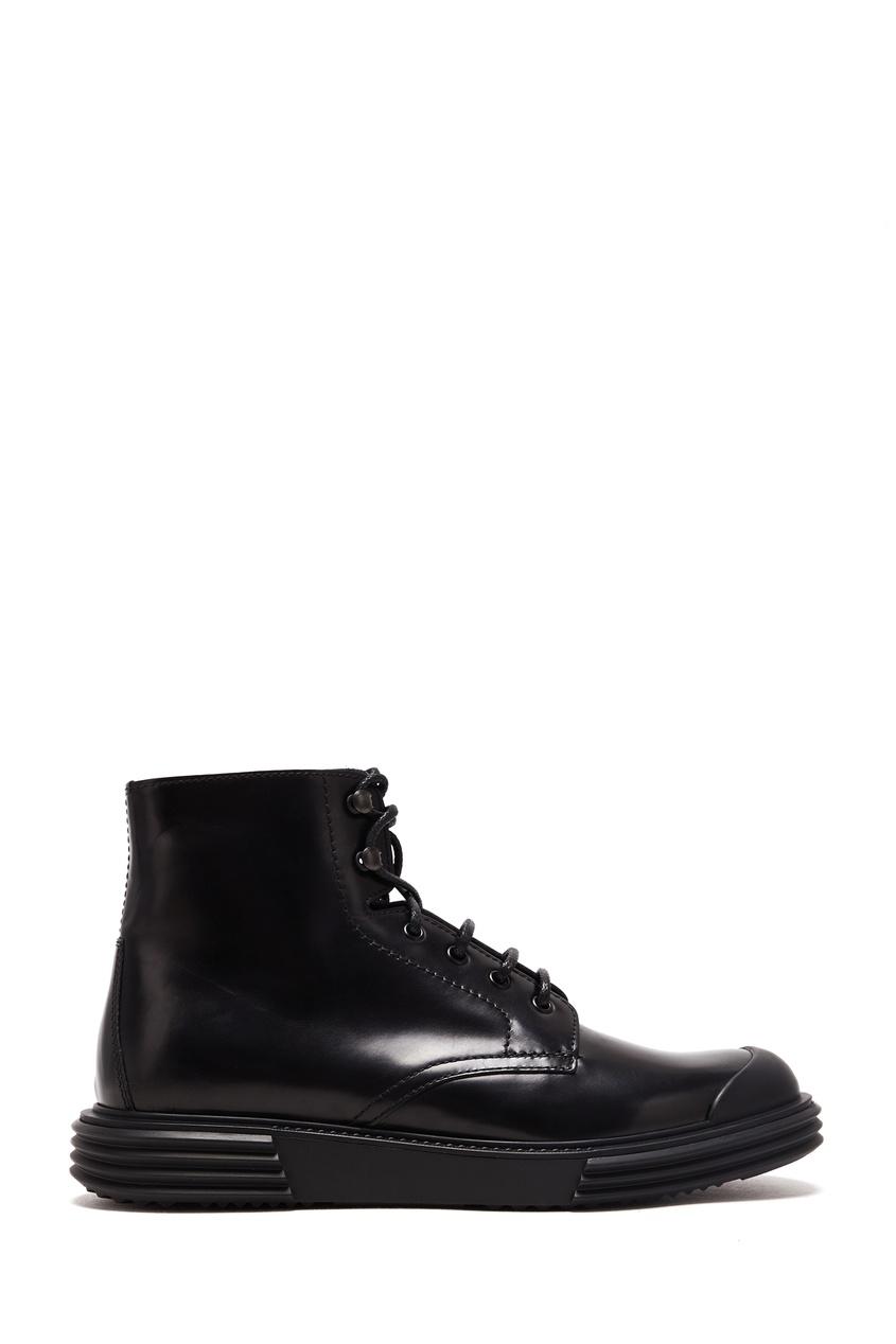 мужские ботинки prada, черные