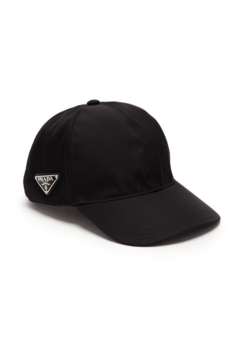 мужская бейсболка prada, черная