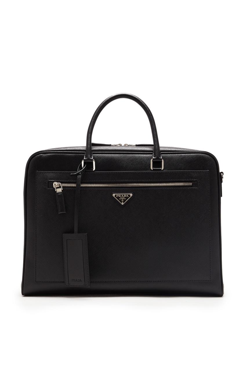 мужской портфель prada, черный