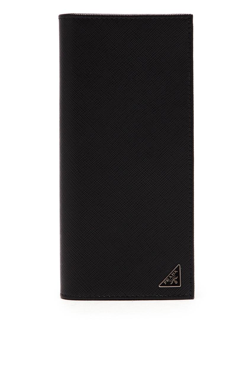 мужской кошелёк prada, черный