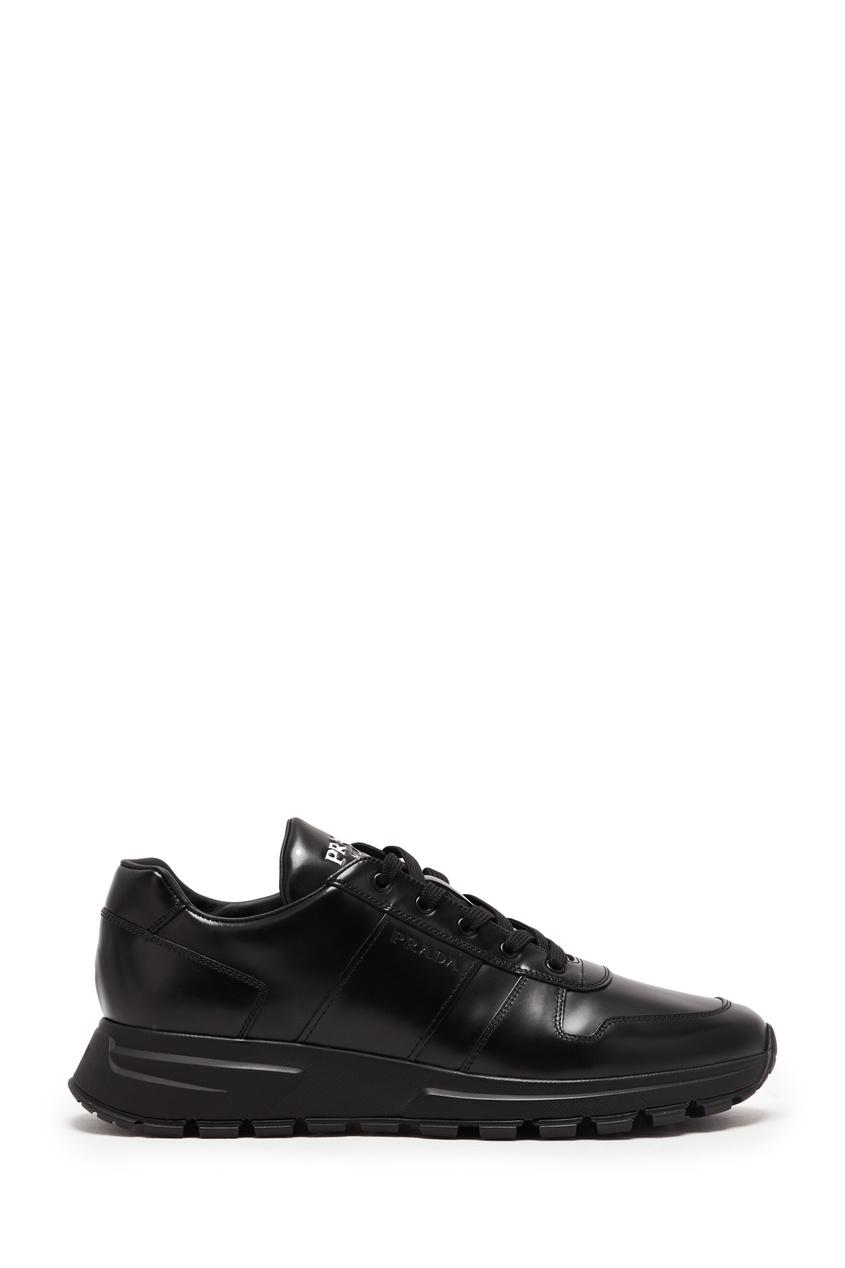 мужские кроссовки prada, черные
