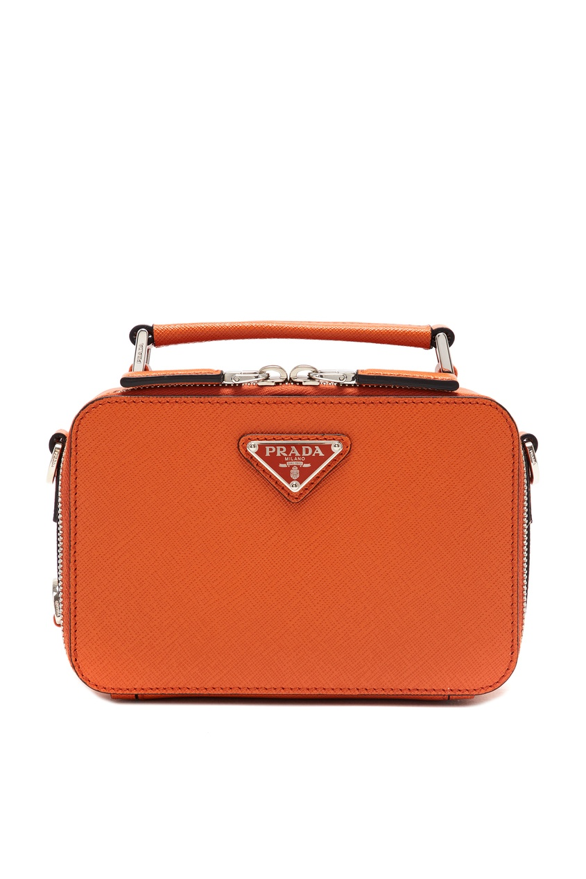 мужская сумка prada, оранжевая