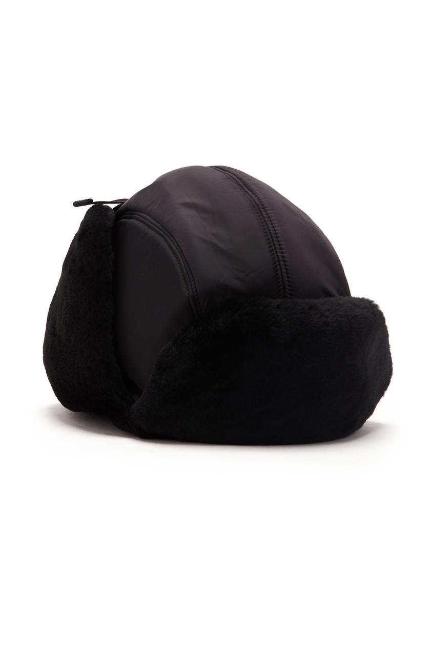 мужская шапка prada, черная