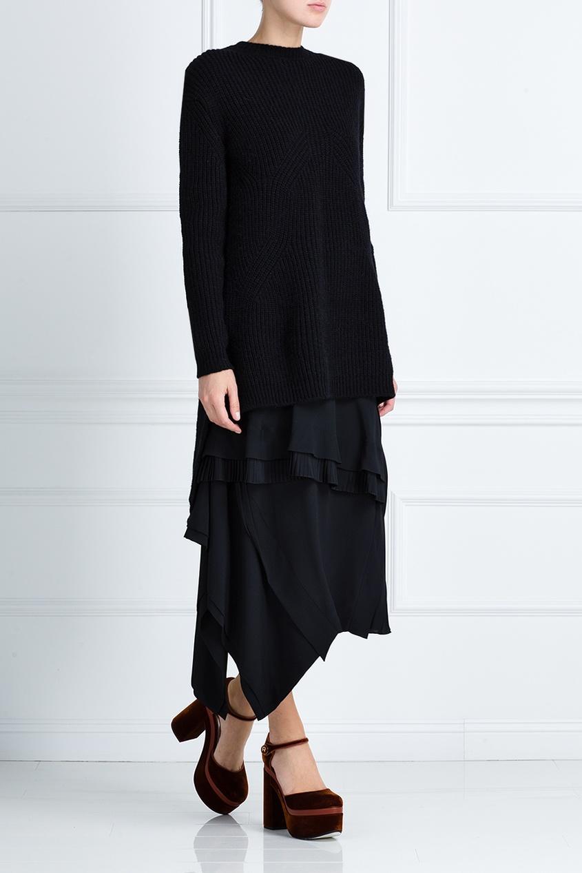 Платье из шерсти и шелка