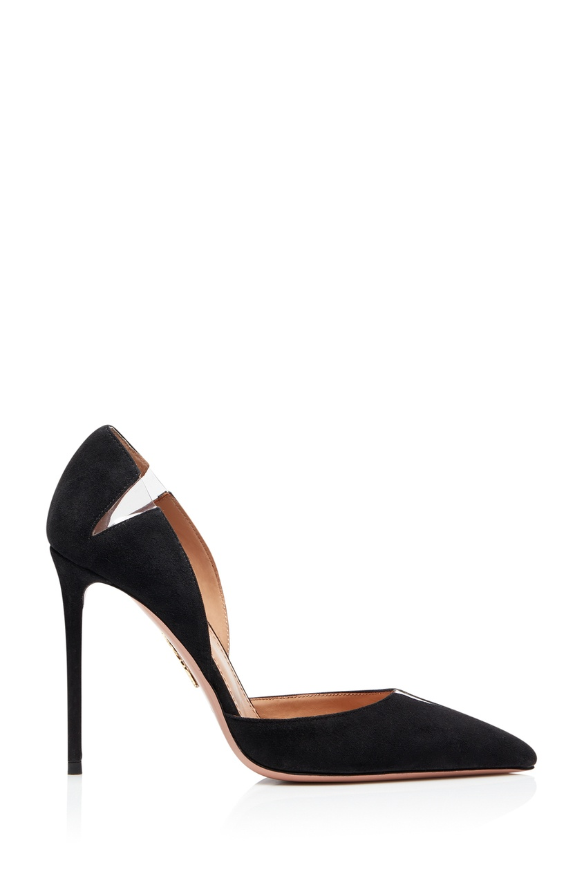 Черные туфли с прозрачными вставками Sharp 105