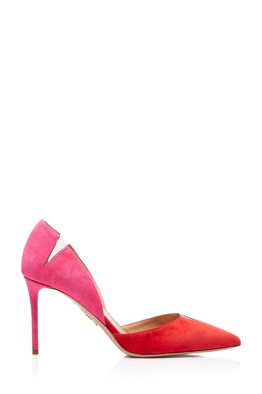 Двухцветные туфли с прозрачными вставками Sharp 105