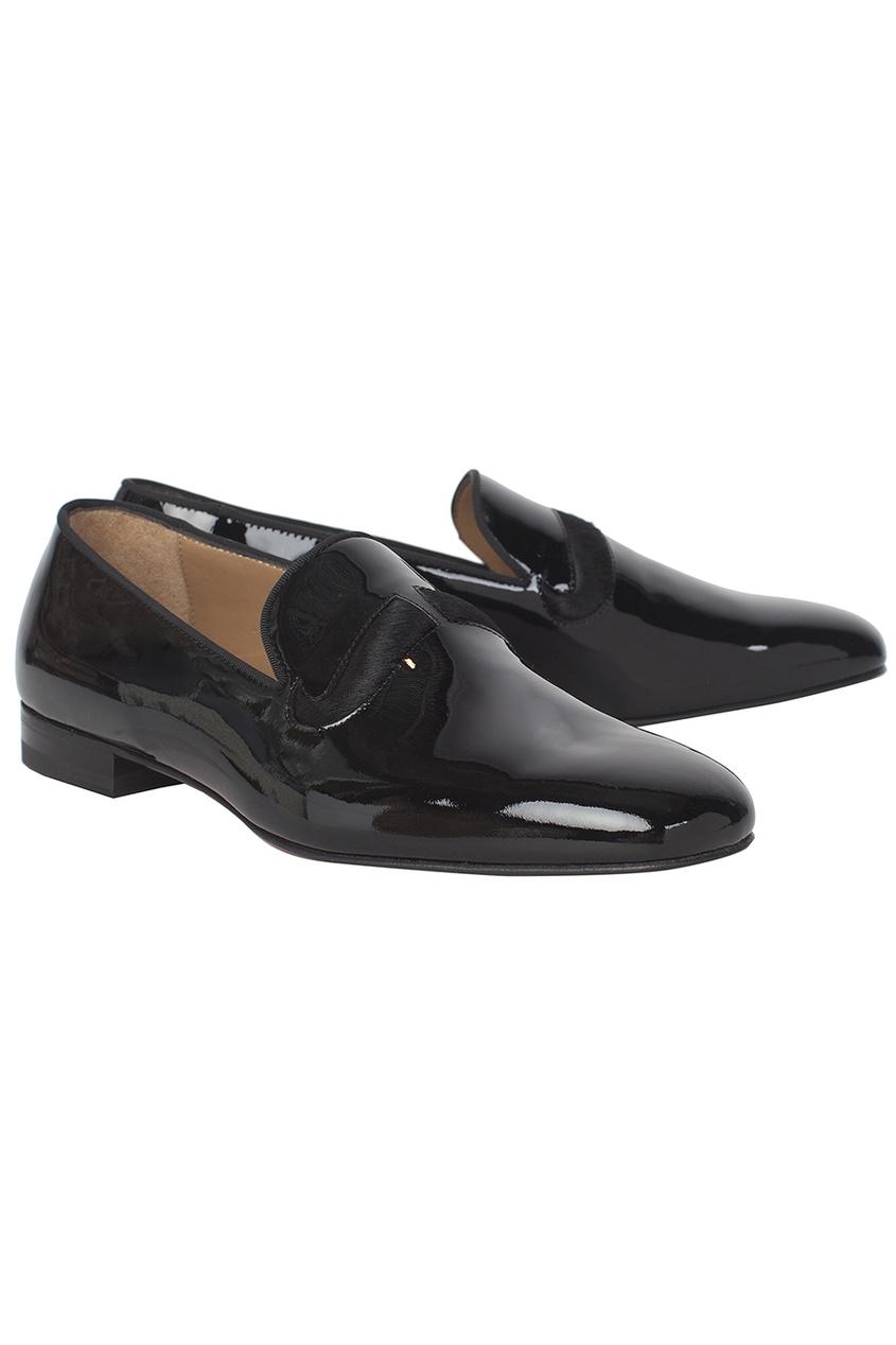 Кожаные туфли Watson Flat Patenty/Pony/GG