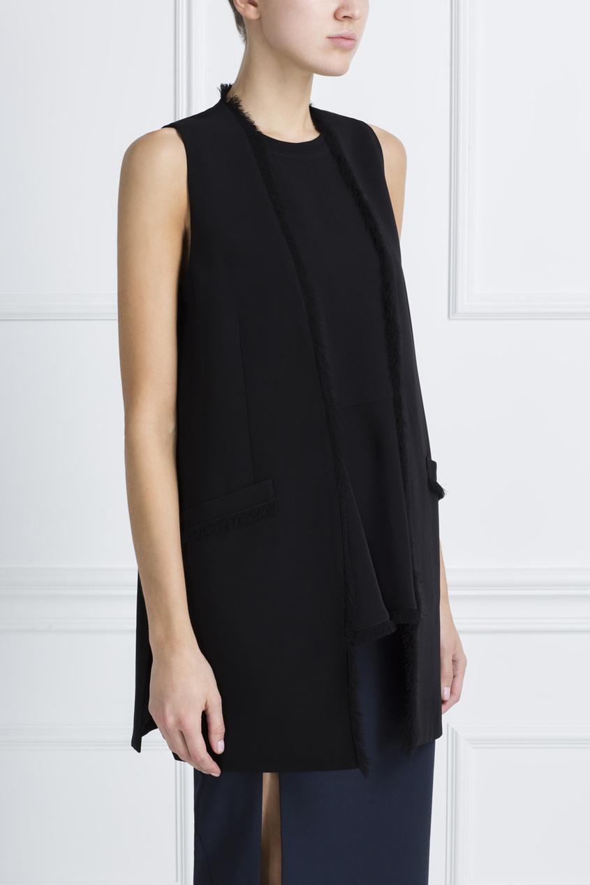 Фото 3 - Однотонный жилет черного цвета