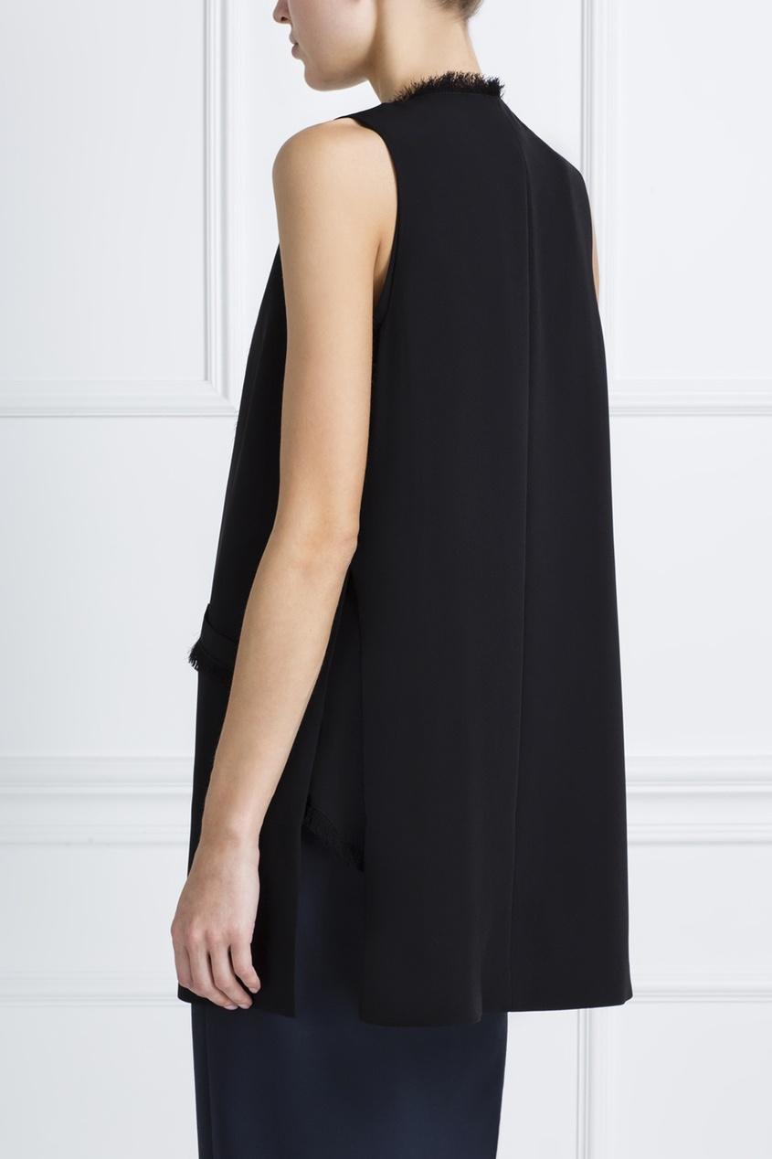 Фото 4 - Однотонный жилет черного цвета