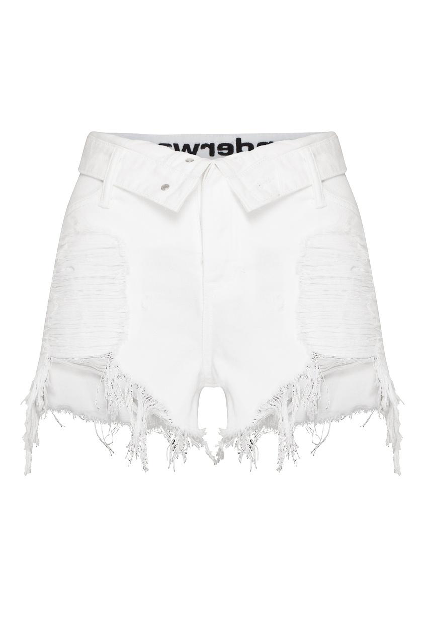 женские шорты alexander wang, белые