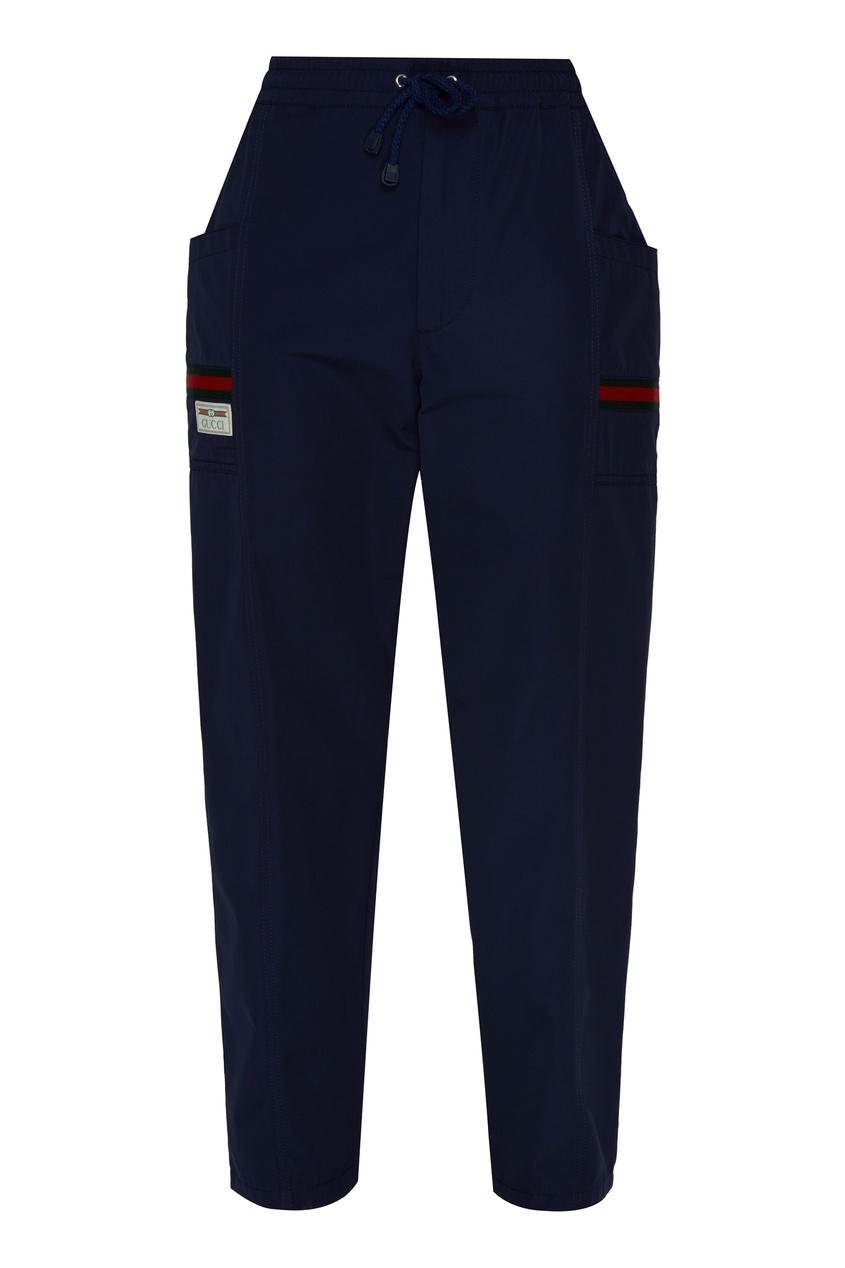мужские брюки gucci, голубые