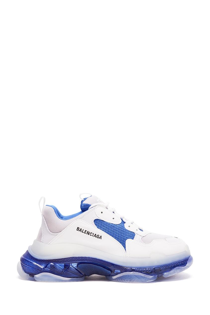 мужские кроссовки balenciaga, белые