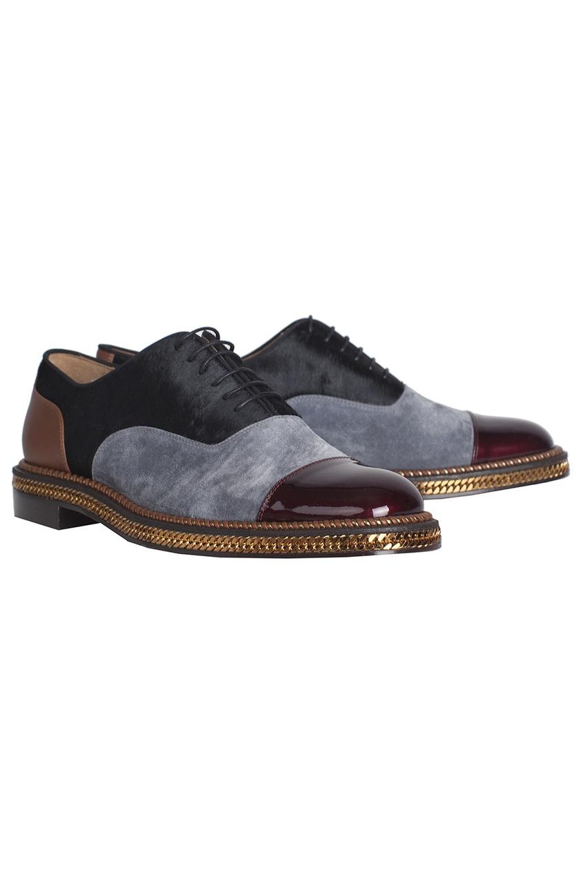 Кожаные туфли Dechaine Flat Metal Pat/VV/Pony/GG