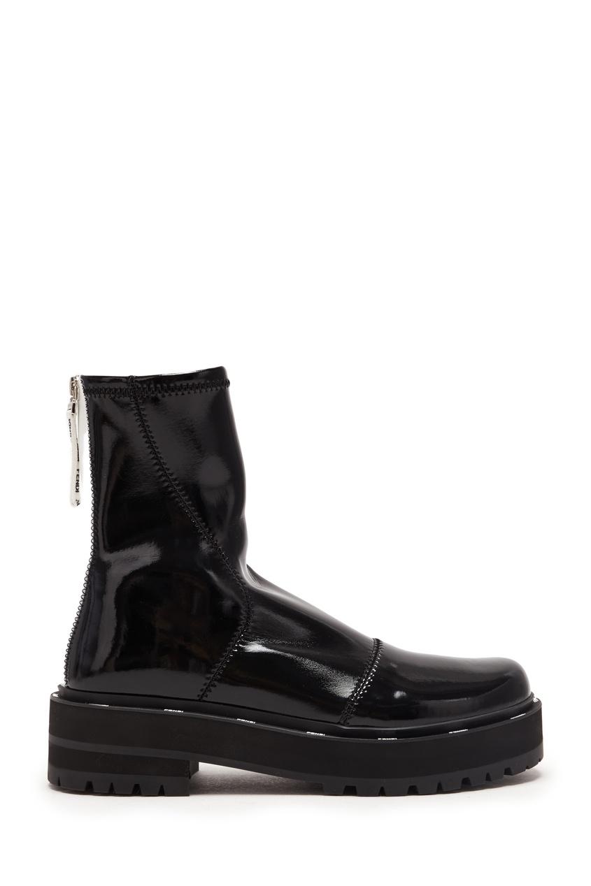 женские ботинки fendi, черные