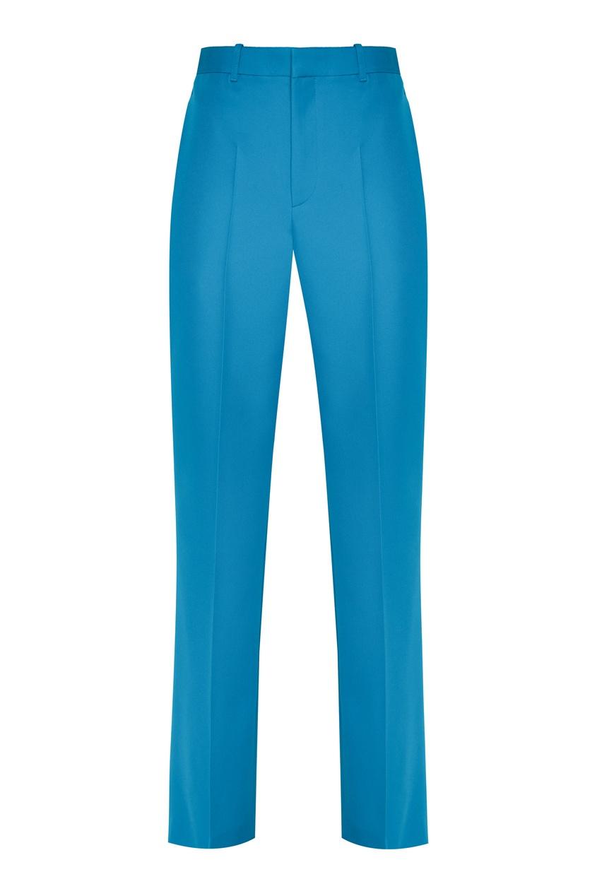 женские шерстяные брюки balenciaga, синие