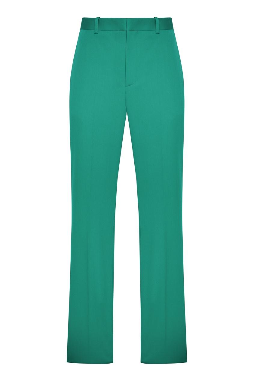 женские шерстяные брюки balenciaga, зеленые