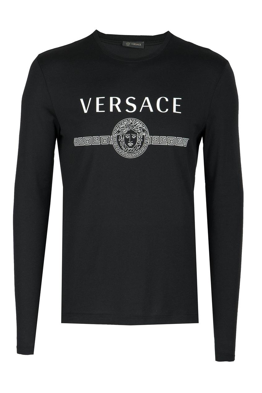 мужской джемпер versace, черный
