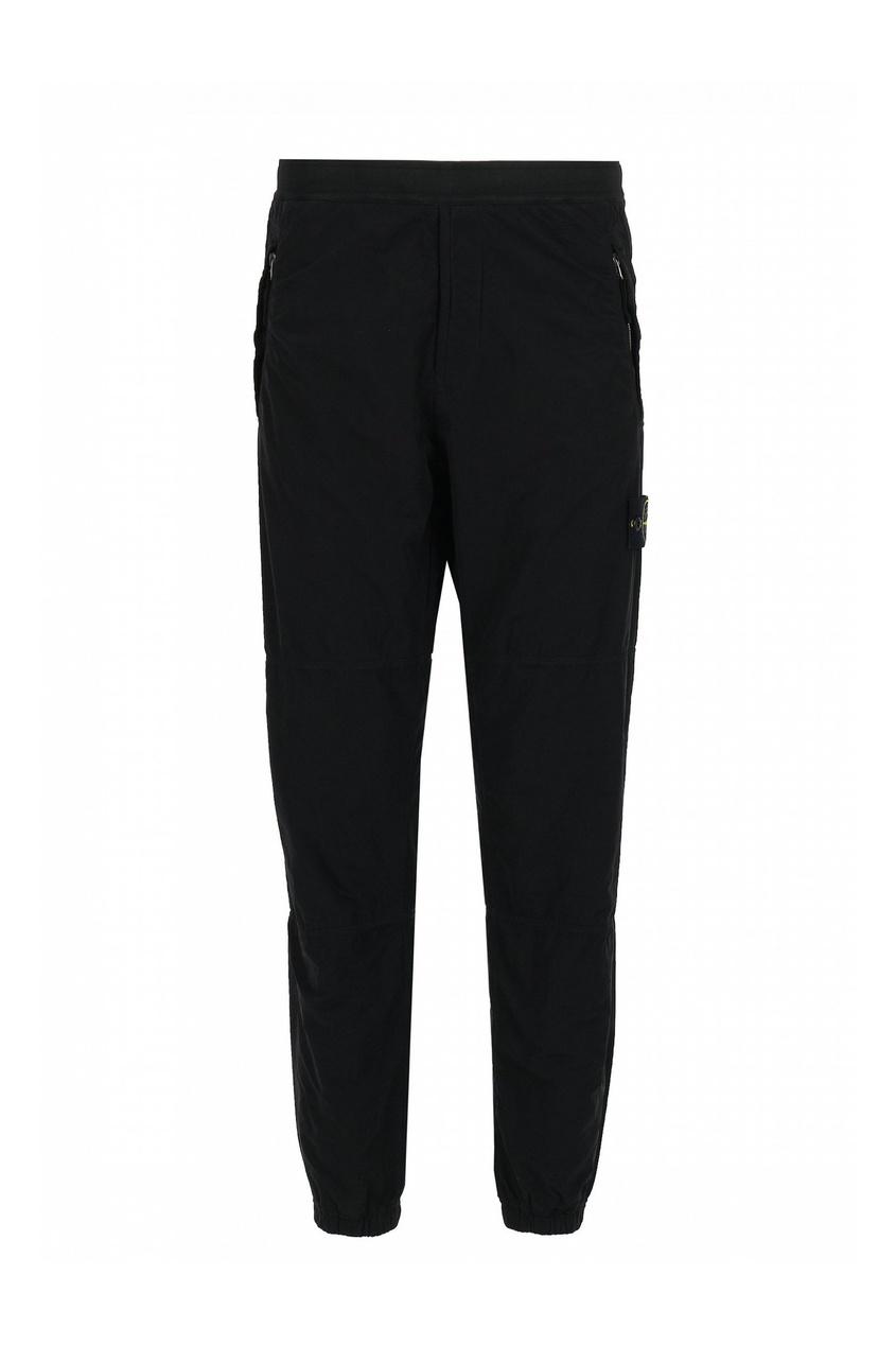 мужские брюки stone island, черные