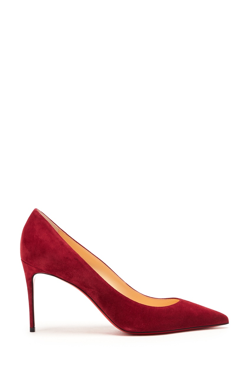 женские туфли christian louboutin, бордовые