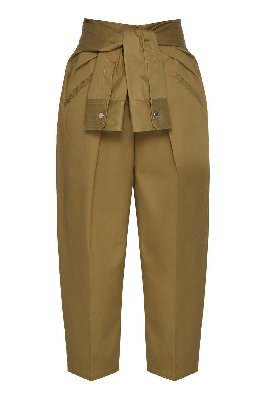 женские брюки alexander wang, зеленые