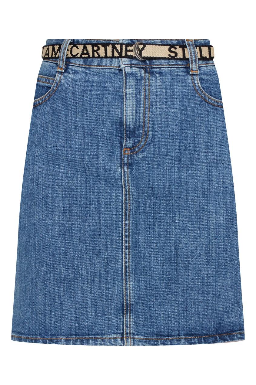 женская джинсовые юбка stella mccartney, синяя