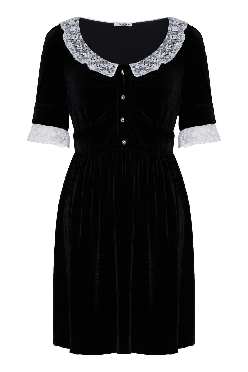 женское платье miu miu, черное
