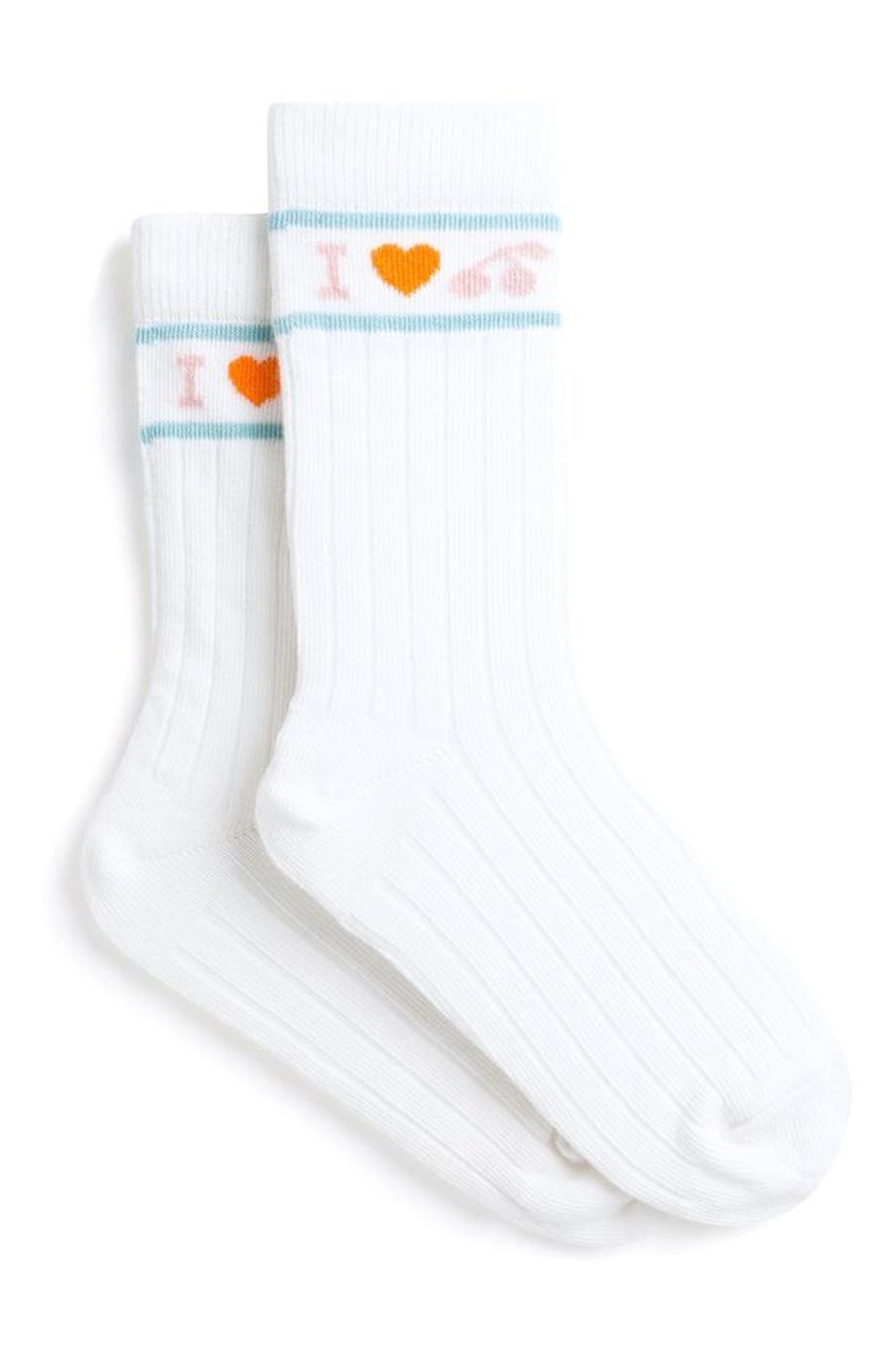 Белые хлопковые носки Bonpoint