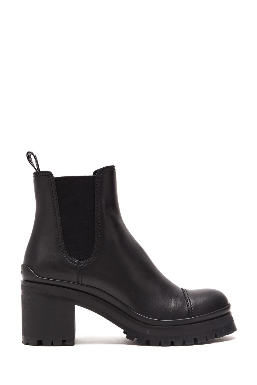 женские ботинки miu miu, черные