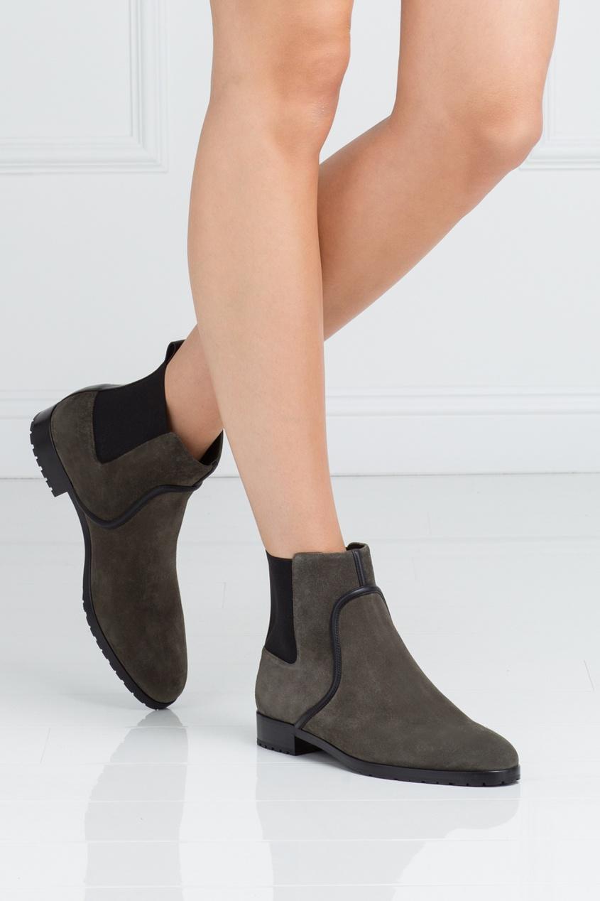 Sergio Rossi Замшевые ботинки