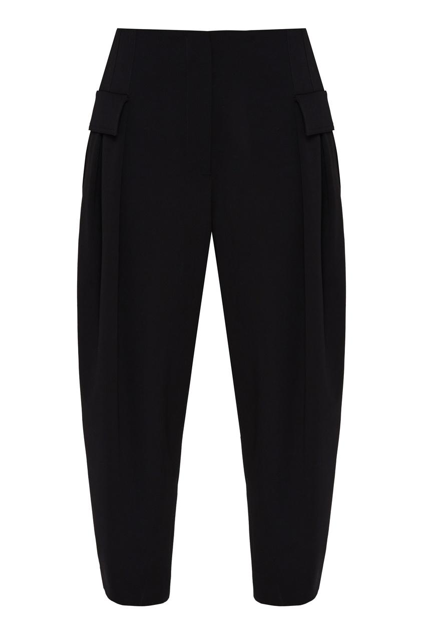женские широкие брюки stella mccartney, черные