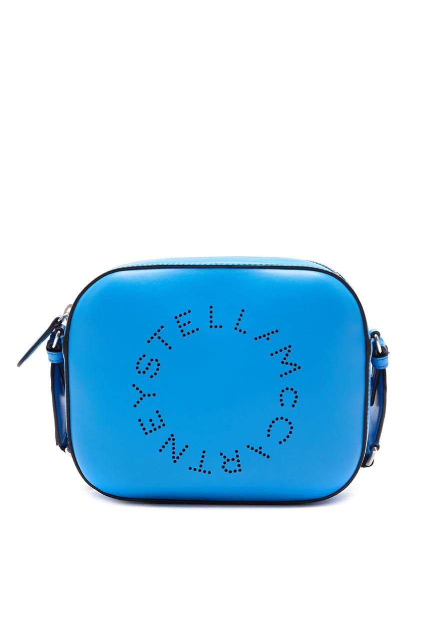 женская сумка stella mccartney, синяя