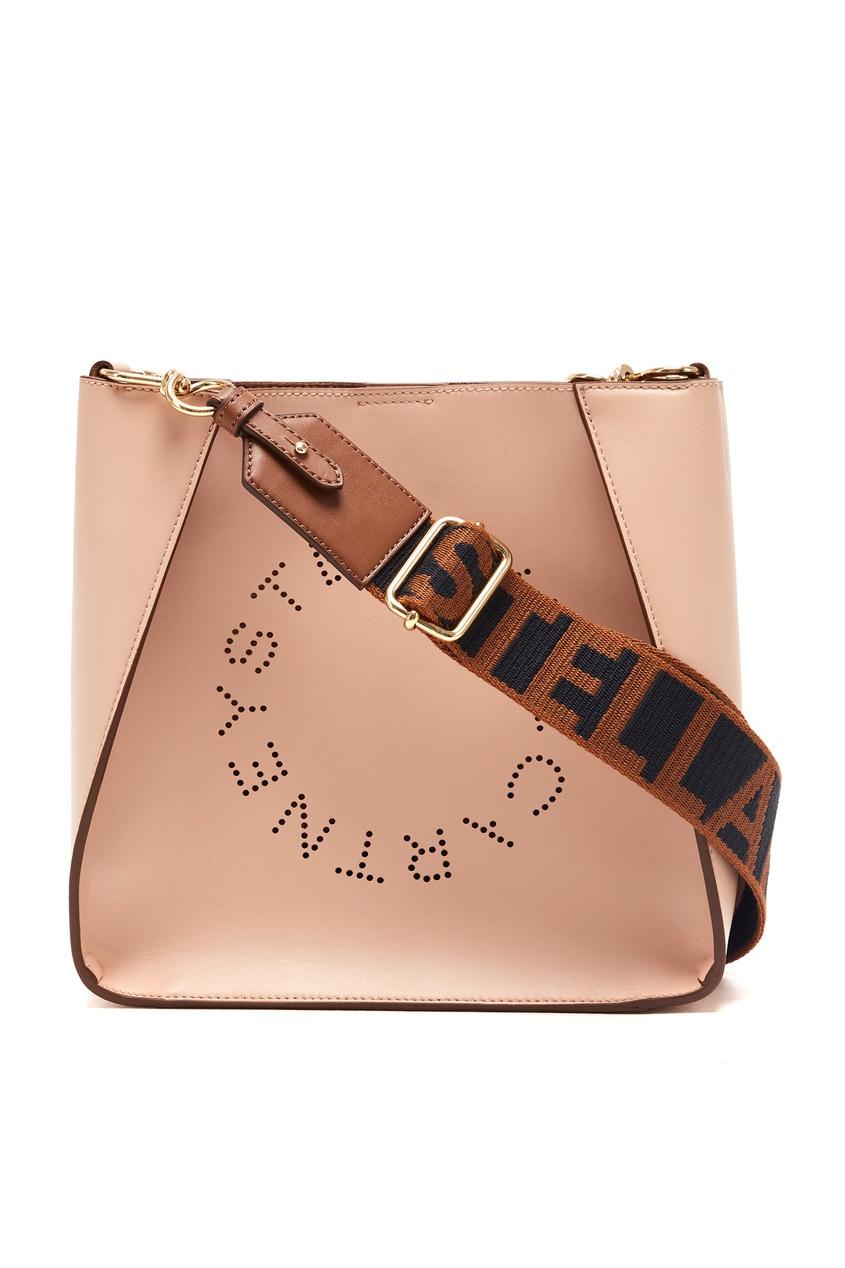 женская сумка-тоут stella mccartney, розовая