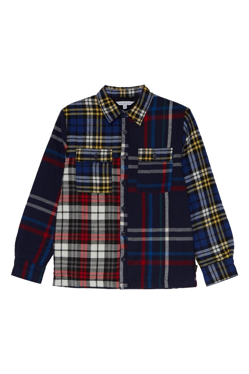 Хлопковая рубашка в клетку от Little Marc Jacobs