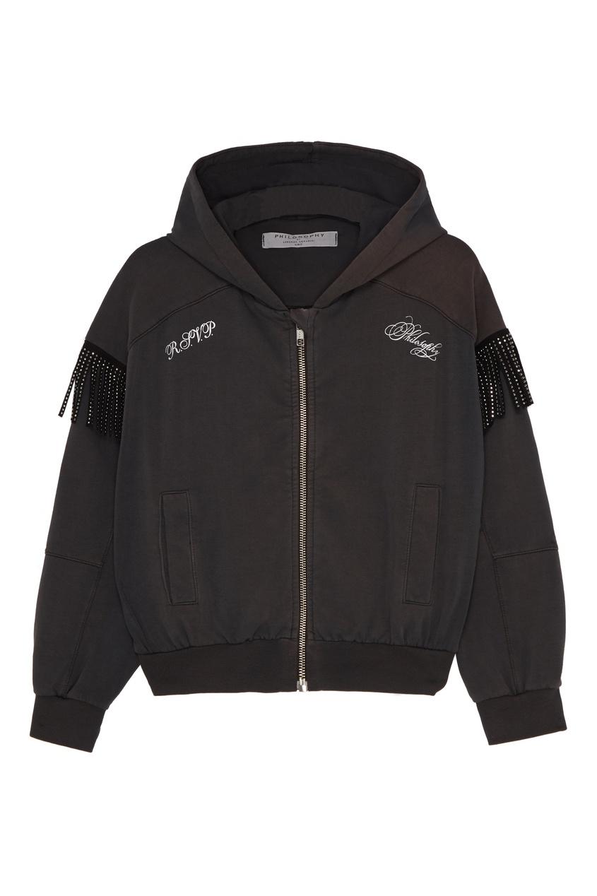 Спортивная куртка с блестящей отделкой