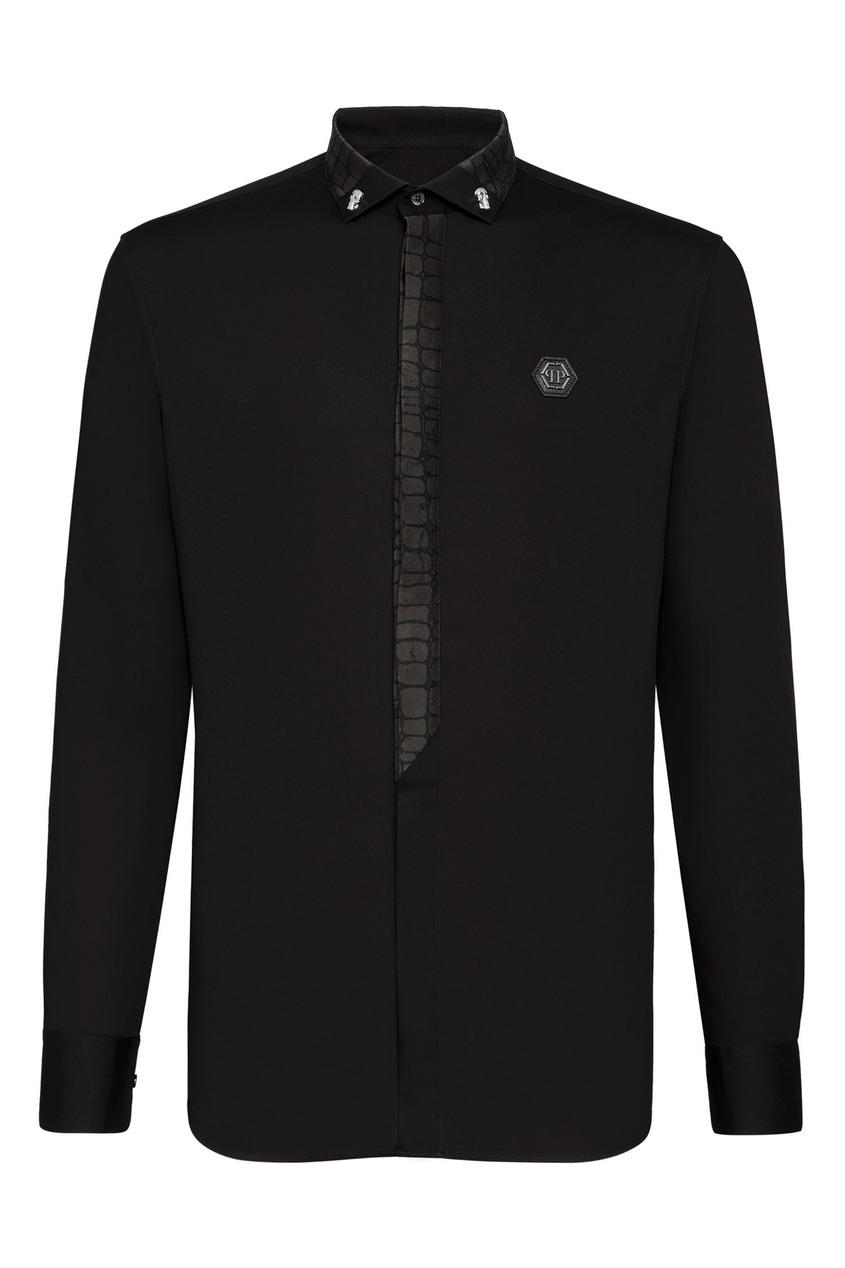 мужская рубашка philipp plein, черная