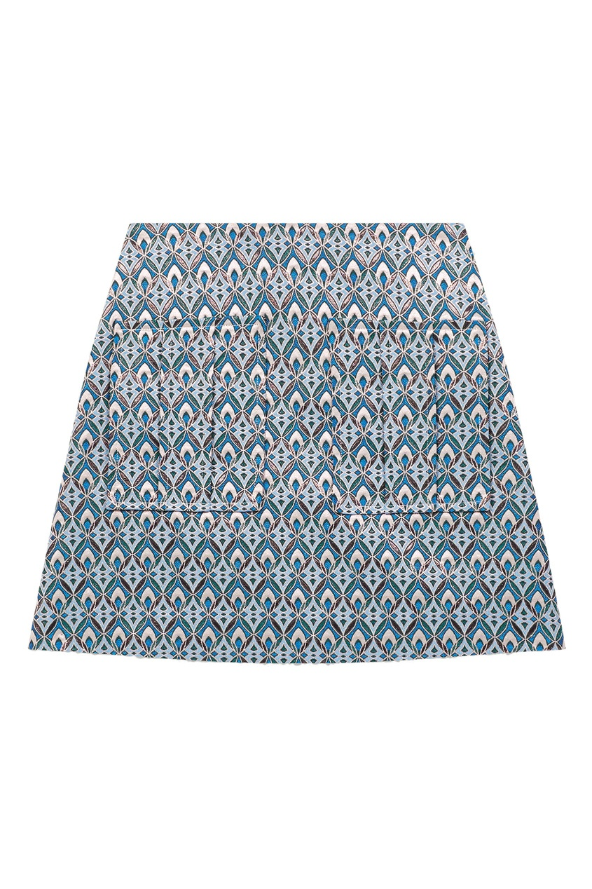 женская юбка мини maje, голубая
