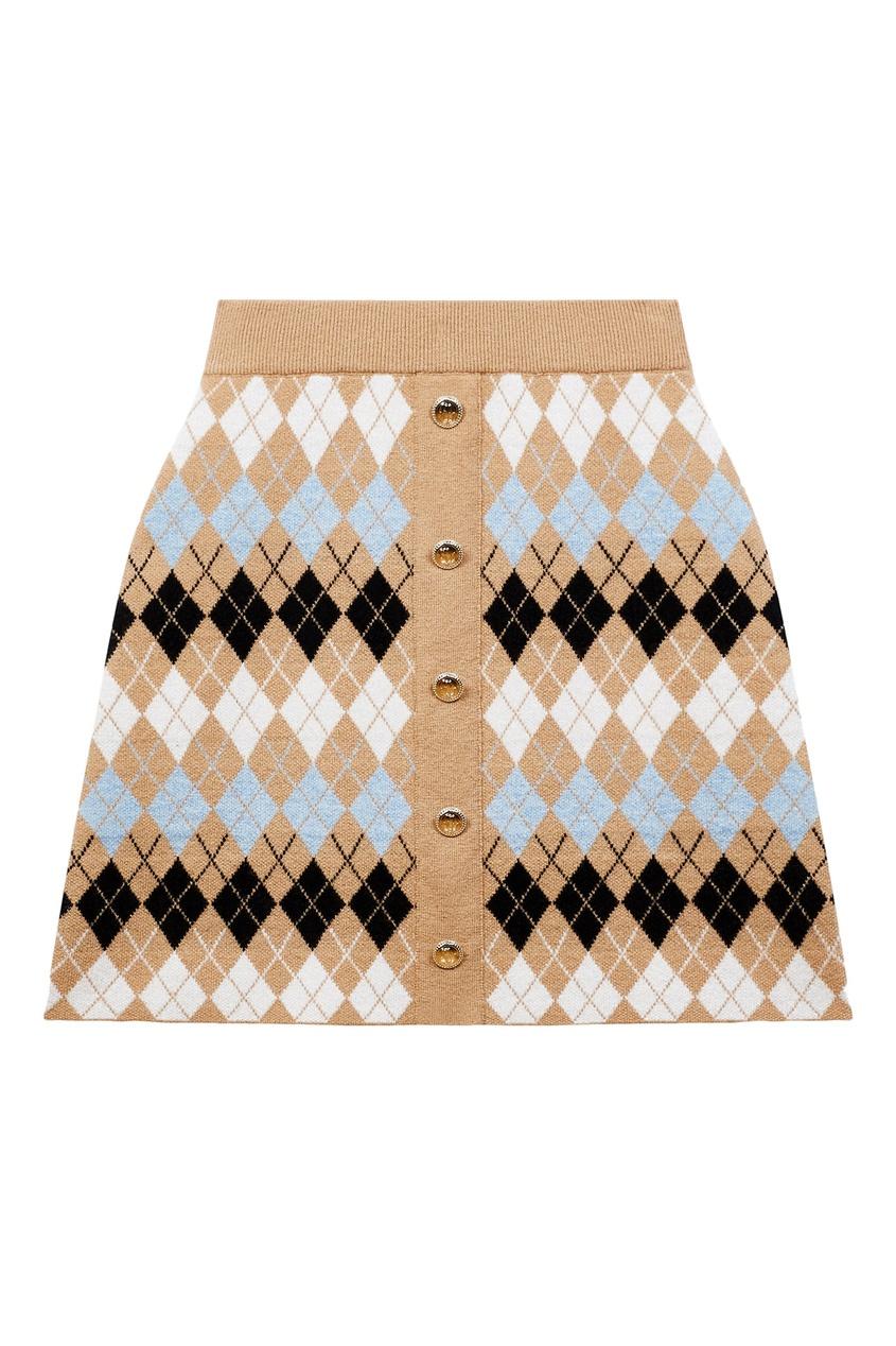 женская юбка мини maje, коричневая