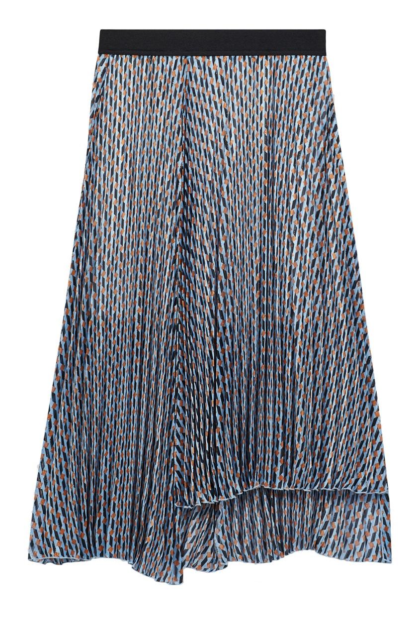женская юбка миди maje, синяя