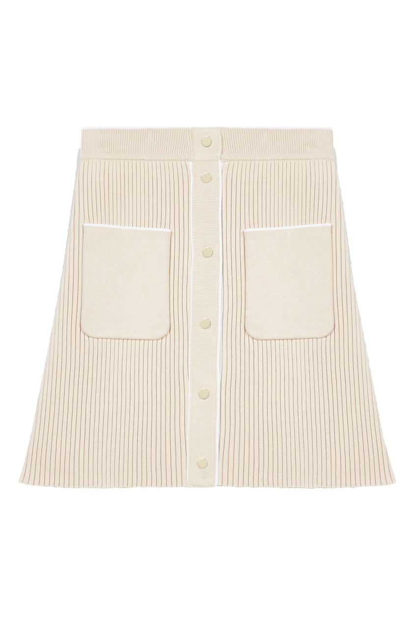 женская юбка мини maje, бежевая