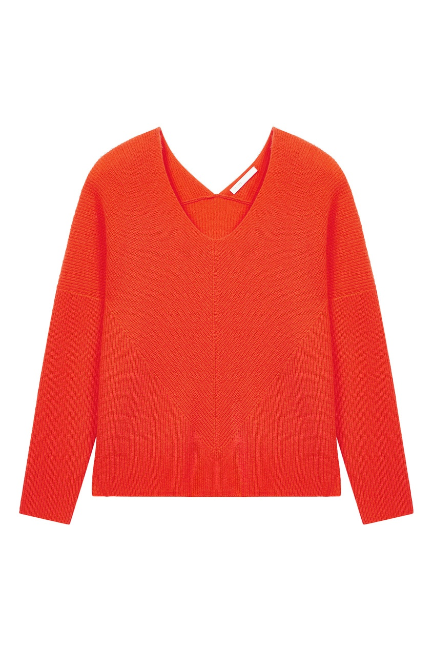 женский пуловер maje, оранжевый