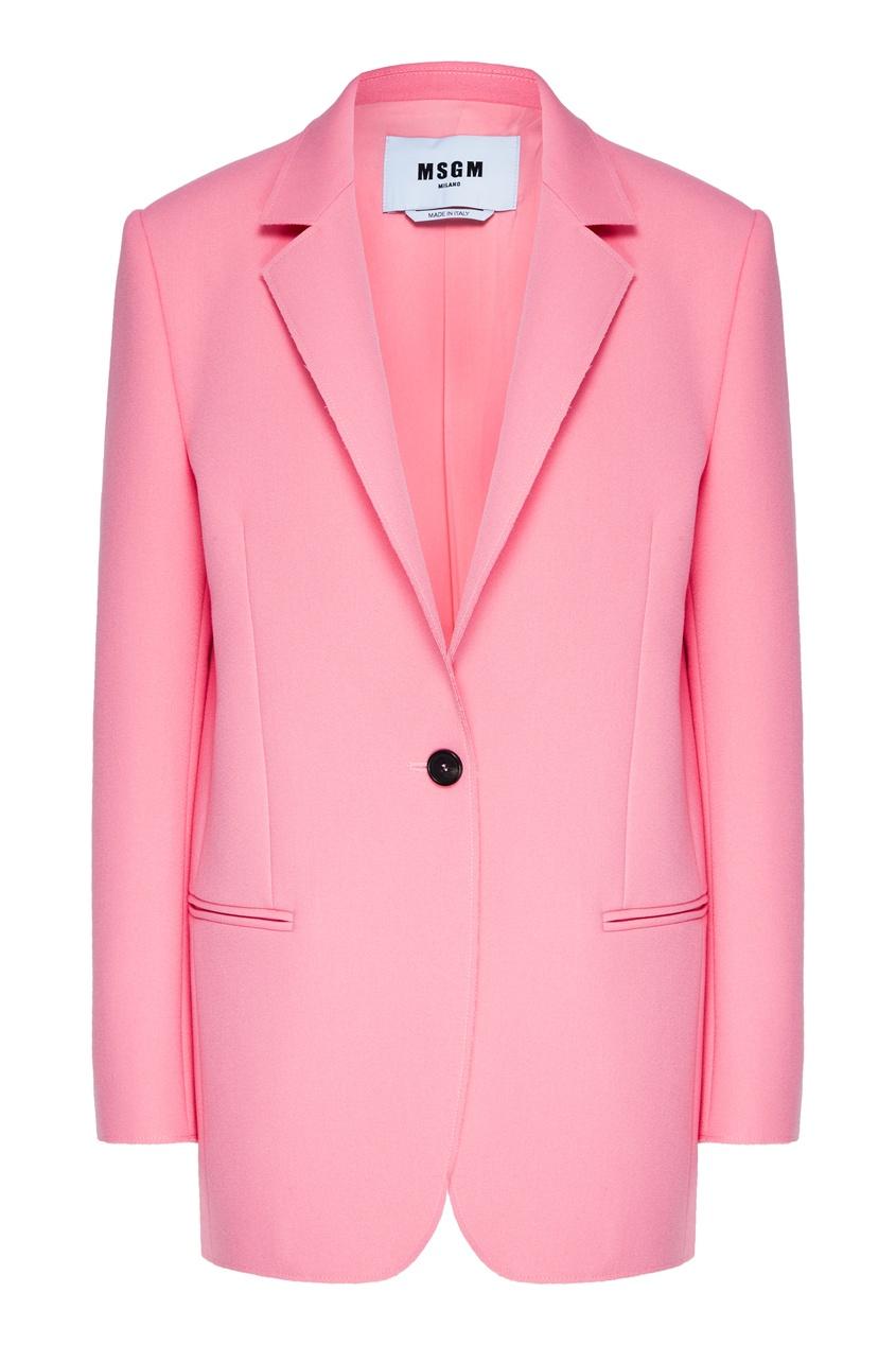 женский жакет msgm, розовый