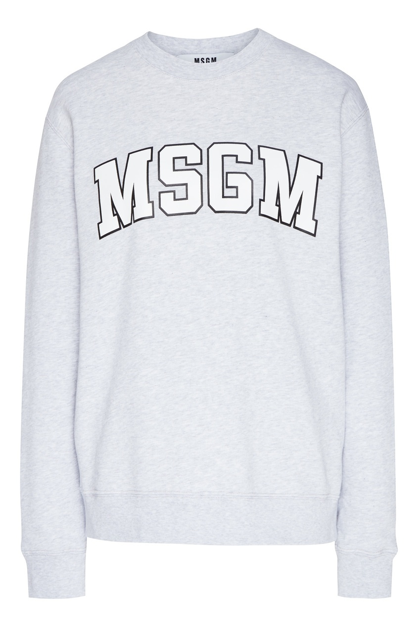 женский свитшот msgm, серый